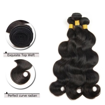 1 Bundle Body Long Curly Wave Lace Closure Human Hair Wig 10 Inch - intl - 3