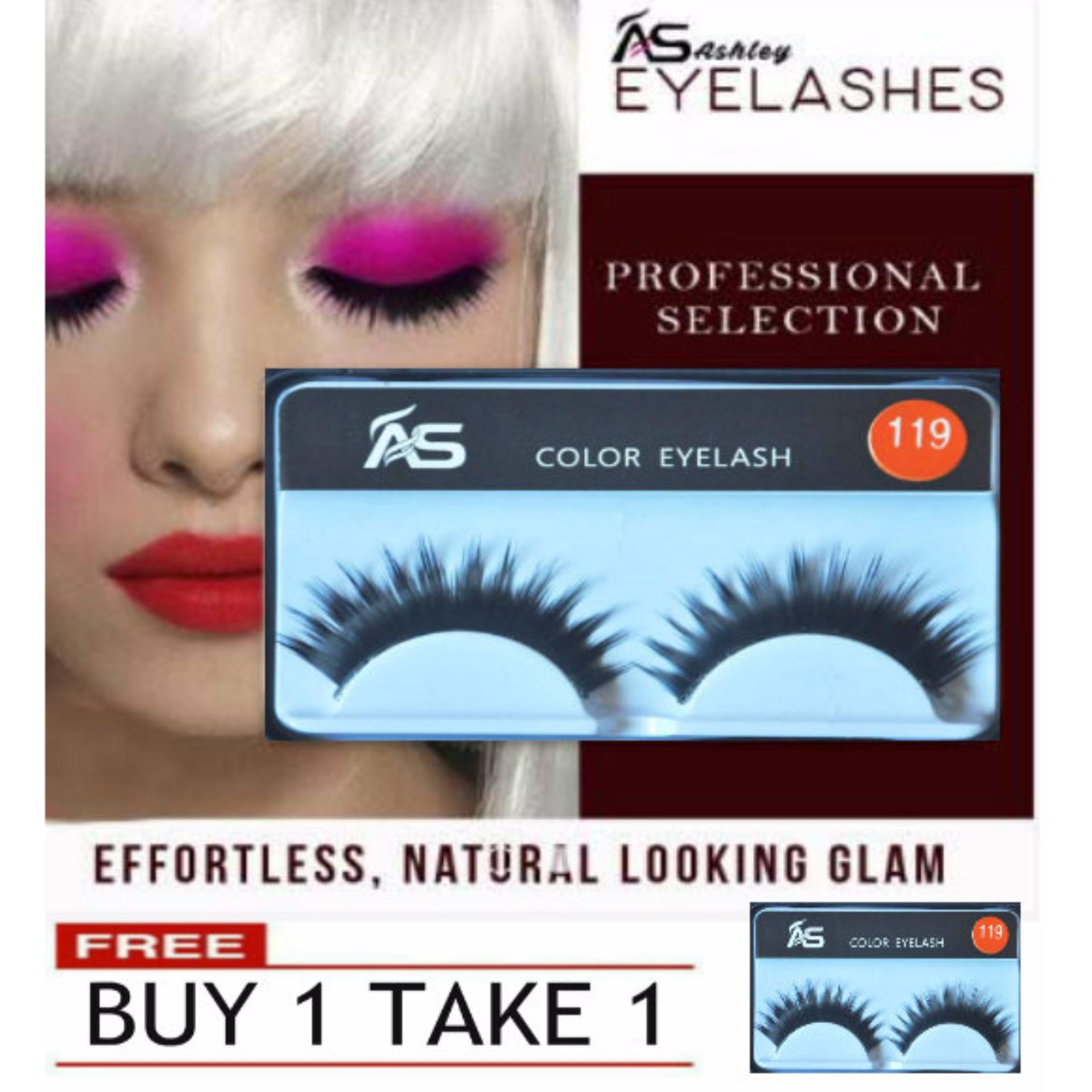 1 Pair Ashley Shine Full Volume False Eyelashes 119 Buy 1 Take 1