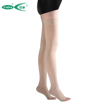 1 Pair Brace Compression Stockings Varicose Veins 23-32mmHg Pressure Level 2 Mid-Calf Length Medical Stockings for Varicose Veins,Beige - intl - 3