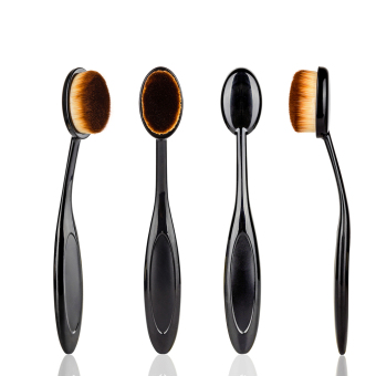 1 pcs Toothbrush Makeup Brushes for Face Powder Blusher CosmeticBeauty Oval Curve Foundation Brush Make Up Tools (Black) - Intl - 5