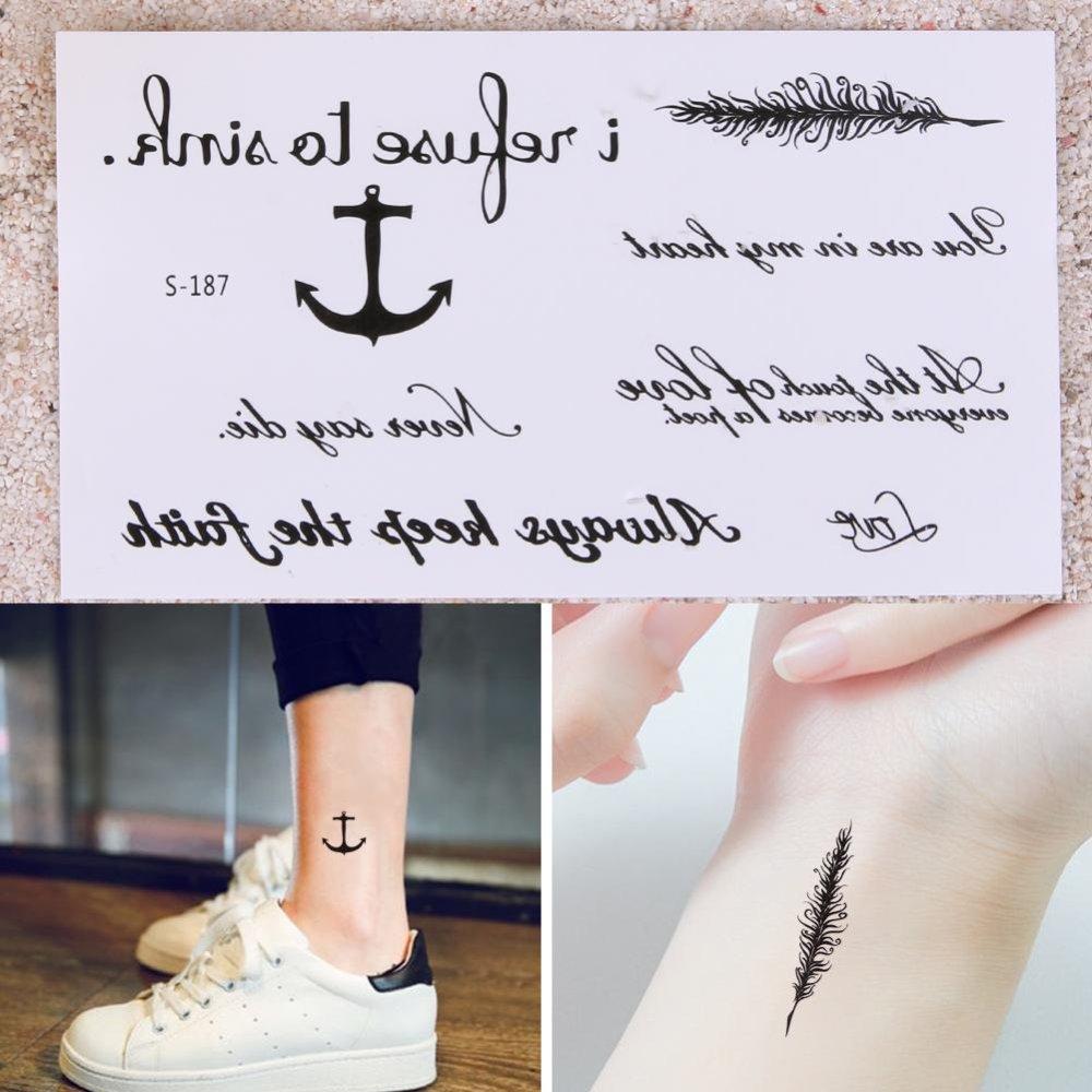 10 Sheets Temporary Tattoo Stickers Waterproof Body Art Decor(Black) - intl