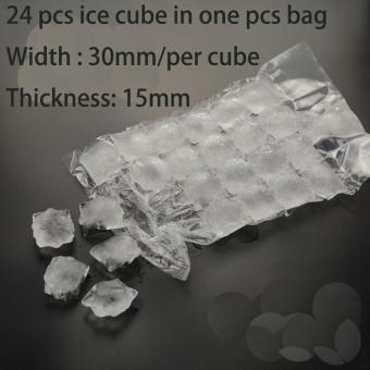 10Pcs/set Fridge Self-sealing Ice Packs Portable Disposable CubeTray Mould Bag One-time using - intl - 2