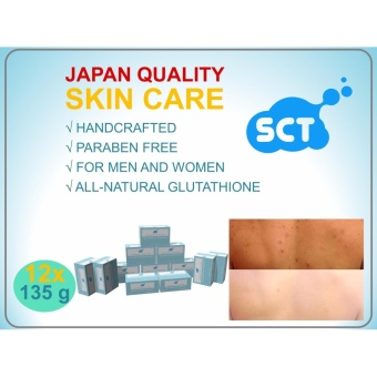 12 Pieces SCT Glutathione Tea Tree Whitening Soap for Men and Women (Organic)
