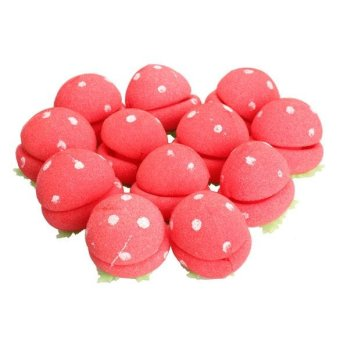 12Pcs Sponge Strawberry Balls Hair Rollers Curlers DIY HairdressingTool - intl Price Philippines