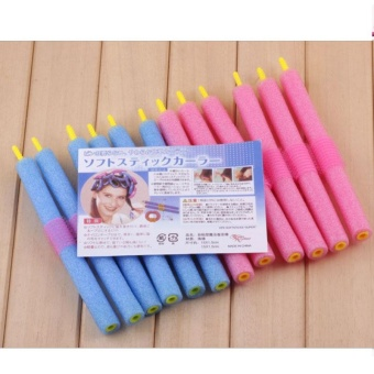 12Pcs/Bag Curly Hair Stick Pearl Cotton Beauty Hair Tool DIY Making Style Girls - intl - 5