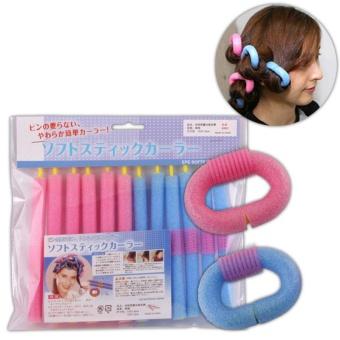 12Pcs/Bag Magic Curly Hair Stick Pearl Cotton Beauty Hair Tool Bendy Twist Women - intl - 4