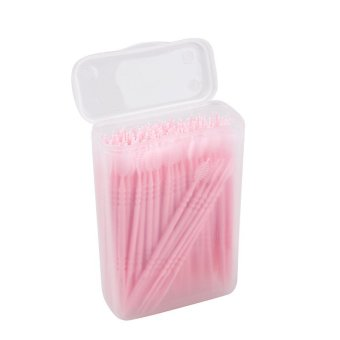 150pcs 2 way Oral Dental Picks Tooth Pick Interdental Brush withPortable Case
