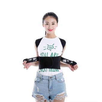 1PC Adjustable Corretor Shoulder Magnet Posture Corrector CorsetBack Belt Straightener Band Brace Shoulder Corretor Postura SupportBelt #L - intl Price Philippines