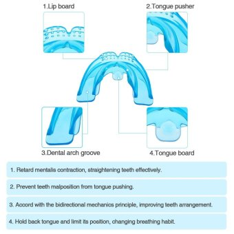 1Pc Orthodontic Trainer Teeth Alignment Straight Teeth System Adult Mouthpieces Brace Dental Tray Mouthguard With Box - intl - 4