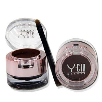 2 in 1 Dark Brown Eyebrow Powder +Eyeliner Gel With Brush Makeup Cosmetic Kit
