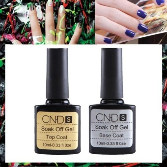 2 pcs Top coat + Base coat Uv Gel Nail Polish Primer Nail Art CNHIDS - intl