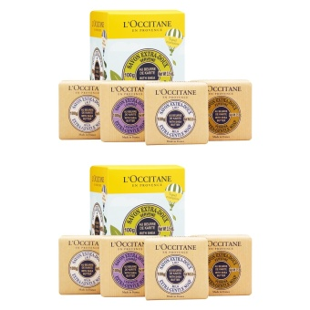 2 x L'Occitane Shea Butter Extra-Gentle Soap Quartet 1set, 4pcs - intl