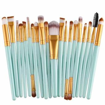 20PCS Make Up Brushes Cosmetic Plastic Handle Basic Makeup Brush Set - intl
