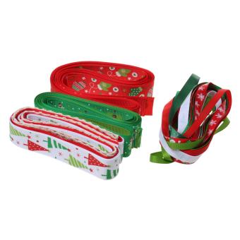 26pcs/Set Christmas Grosgrain Ribbon for Gift Wrapping/Hair Bow DIY - intl - 4