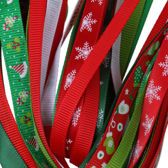 26pcs/Set Christmas Grosgrain Ribbon for Gift Wrapping/Hair Bow DIY - intl - 2