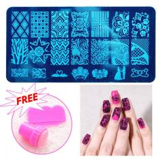 Nail art brands nail art designs on sale prices set reviews 2pcs nail art diy stamping stamper kit scraper salon fashion girl hot solutioingenieria Image collections
