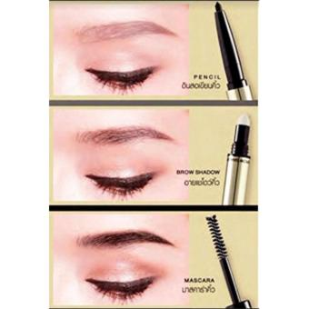 3-in-1 Eyebrow Pencil, Shadow, Mascara Pen 3 Effects (3 Simple Steps) Medium Brown Price Philippines