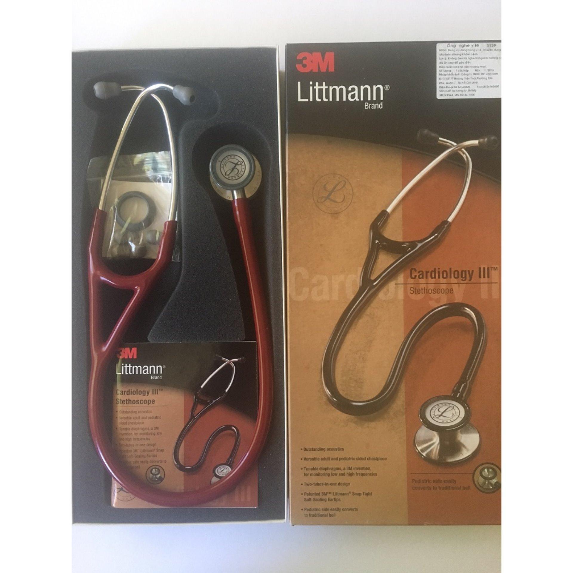 3M Littman Cardiology III Stethoscope Burgundy 27