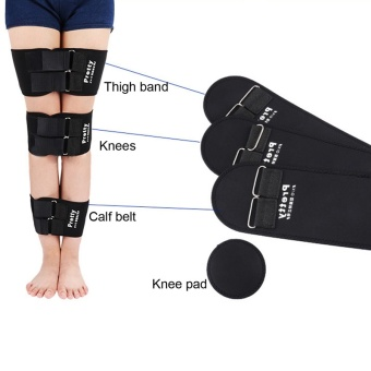 3pcs/set Effective O/X Type Leg Bowed Legs Knee Valgum Straightening Correction Belt Band Posture Corrector Beauty Leg Band Belt,Black - intl - 3