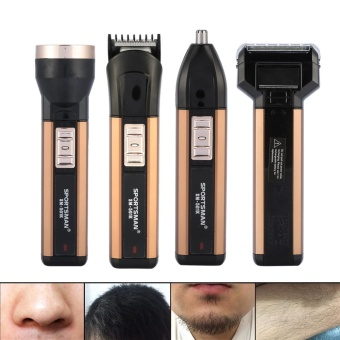 4 In 1 Rechargable Men Nose Beard Hair Removal Trimmer Electric Face Shaver Set - intl