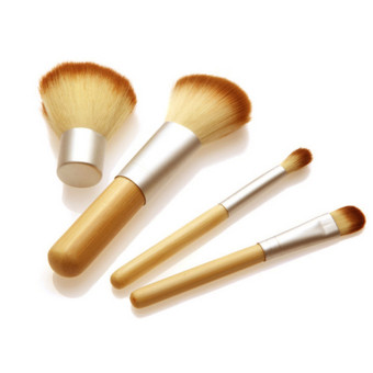 4 PCs set bamboo handle Foundation Kabuki make-up brushes min