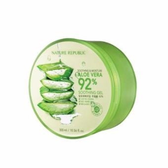 5 IN 1 Beauty Face Care Massager with Nature Republic Soothing andMoisturizing Aloe Vera 92 Soothing Gel 300ml - 2