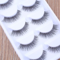 5 Pairs Natural Eye Lashes Extension Makeup Long Fake False Eyelashes Thick Soft - intl Philippines