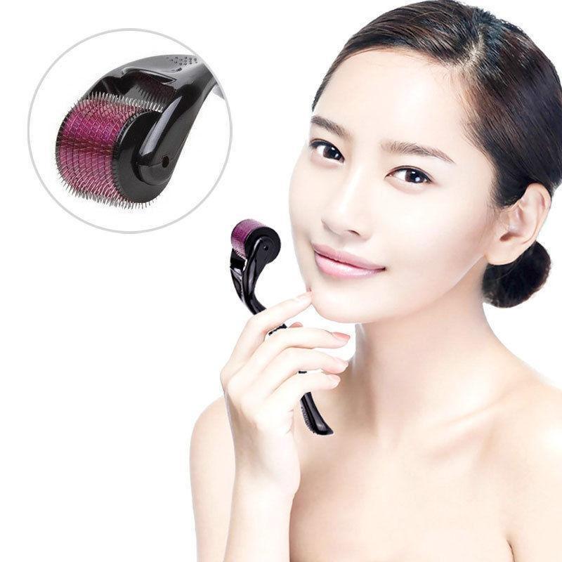 ... 540 Micro Needle Derma Roller Dermaroller Microneedle Skin Acne Therapy (Needle Size:0.75mm ...