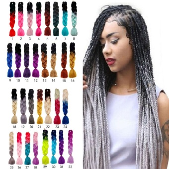 60CM Kanekalon Ombre Synthetic Jumbo Braiding Hair Extension Afro Twist Braids 19# - intl - 2