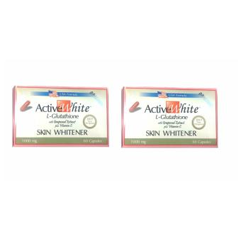 Active White L-Glutathione 1000ml 60 capsules set of 2s Price Philippines
