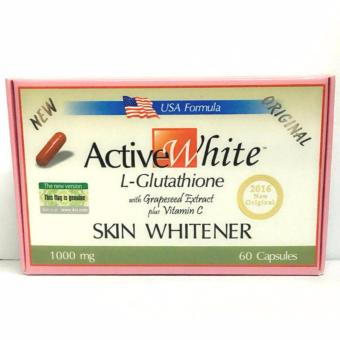 Active White L-Glutathione Skin Whitener 1000mg Capsules Box of 60
