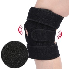 Adjustable Knee Support Brace Sleeve Wrap Basketball Outdoor SportsKnee Pad Black - intl
