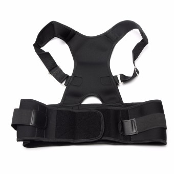 Adjustable Posture Back Lumbar Support Corrector Brace Shoulder Band Belt Blcak M Comfortable Price Philippines