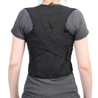 Adult Children Back Straightening Posture Correction Waist LumbarShoulder Support Belt(M) - intl - 2
