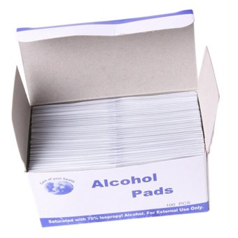 Alcohol Swab Wipe Skin Cleansing 70 Percent Isopropyl AntisepticDisinfection 100 Pads - 2