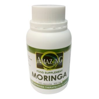 Amazing Food Supplement Moringa (Malunggay) 500mg Capsules Bottleof 100