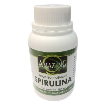 Amazing Food Supplement Spirulina 500mg 100% Capsules Bottle of 100