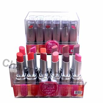 Ashley Shine Lipstick Color Lips Kissful 12pcs ~Multicolor