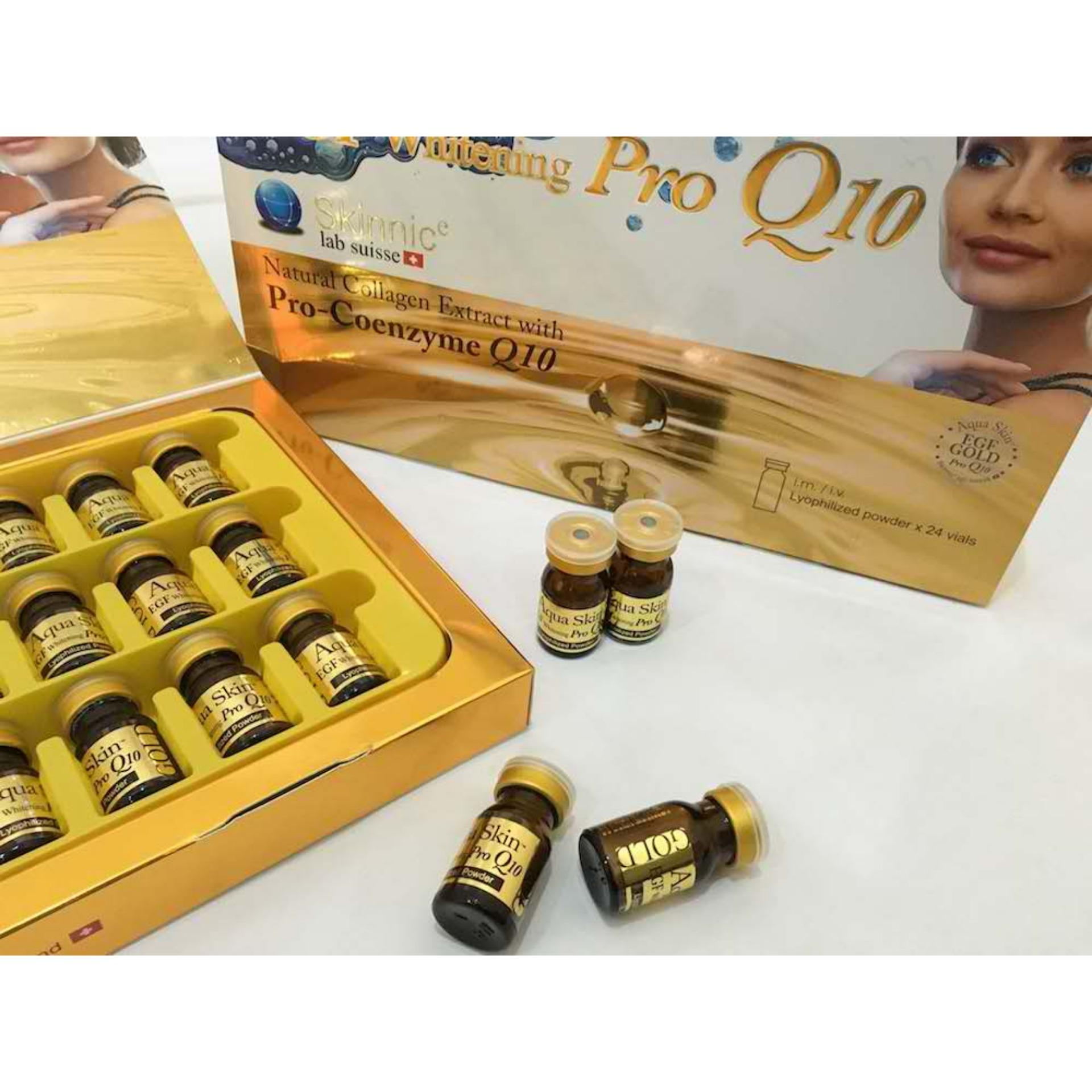 ... Authentic Aqua Skin EGF Whitening PROQ10 GOLD 24 vialsSkin-Whitening Anti-aging Glutathione IV ...