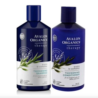 Avalon Organics Biotin B-Complex Thickening Shampoo and Conditioner, 14 Ounce