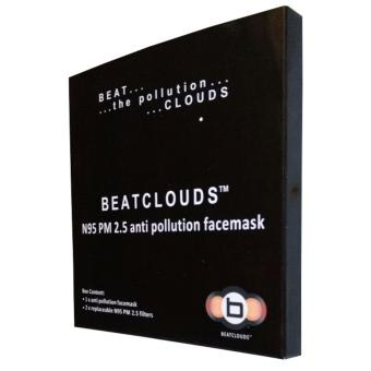 BEATCLOUDS Kids N95 PM 2.5 Anti Pollution Cotton Face Mask - Green - 3