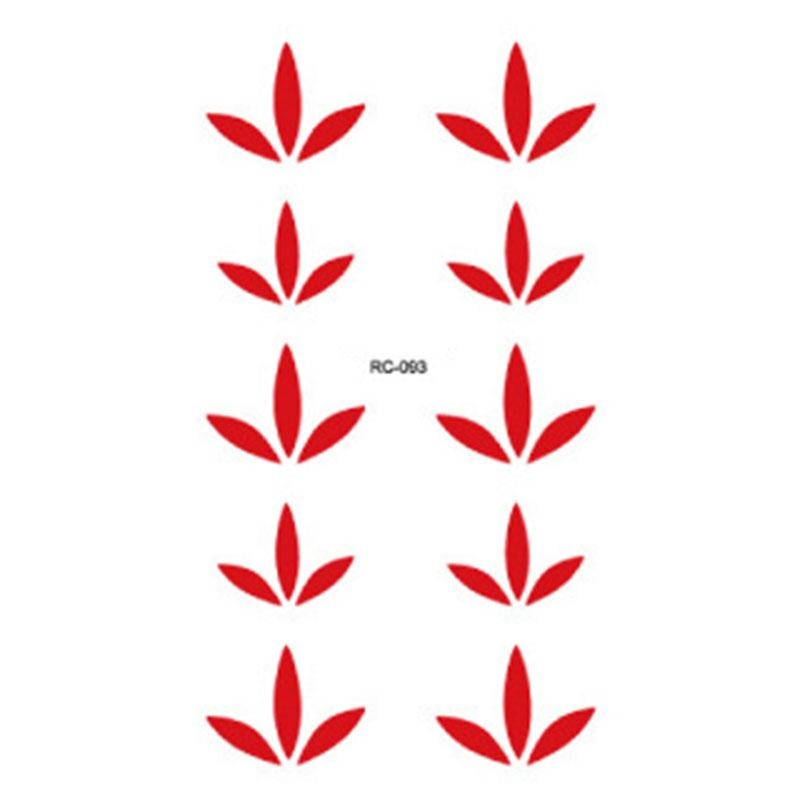 Beauty RED Temporary Tattoo Body Art Bindis Forehead StickerRemovable Stickers - intl