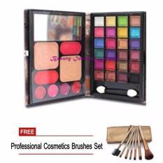BeautyInhouse MEIYA Wallet Design Make UP Kit 03 W/Free 1 Professional Cosmetics Brushes Set Philippines