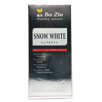 Bee Zin Snow White Whitening Tablets with Pycogenol Glutathione Arbutin 60 tablets