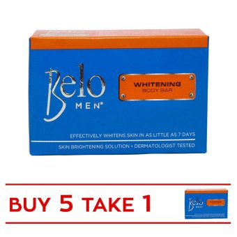 Belo Men Whitening Body Bar 90g Set of 5 with Free 1 Bar