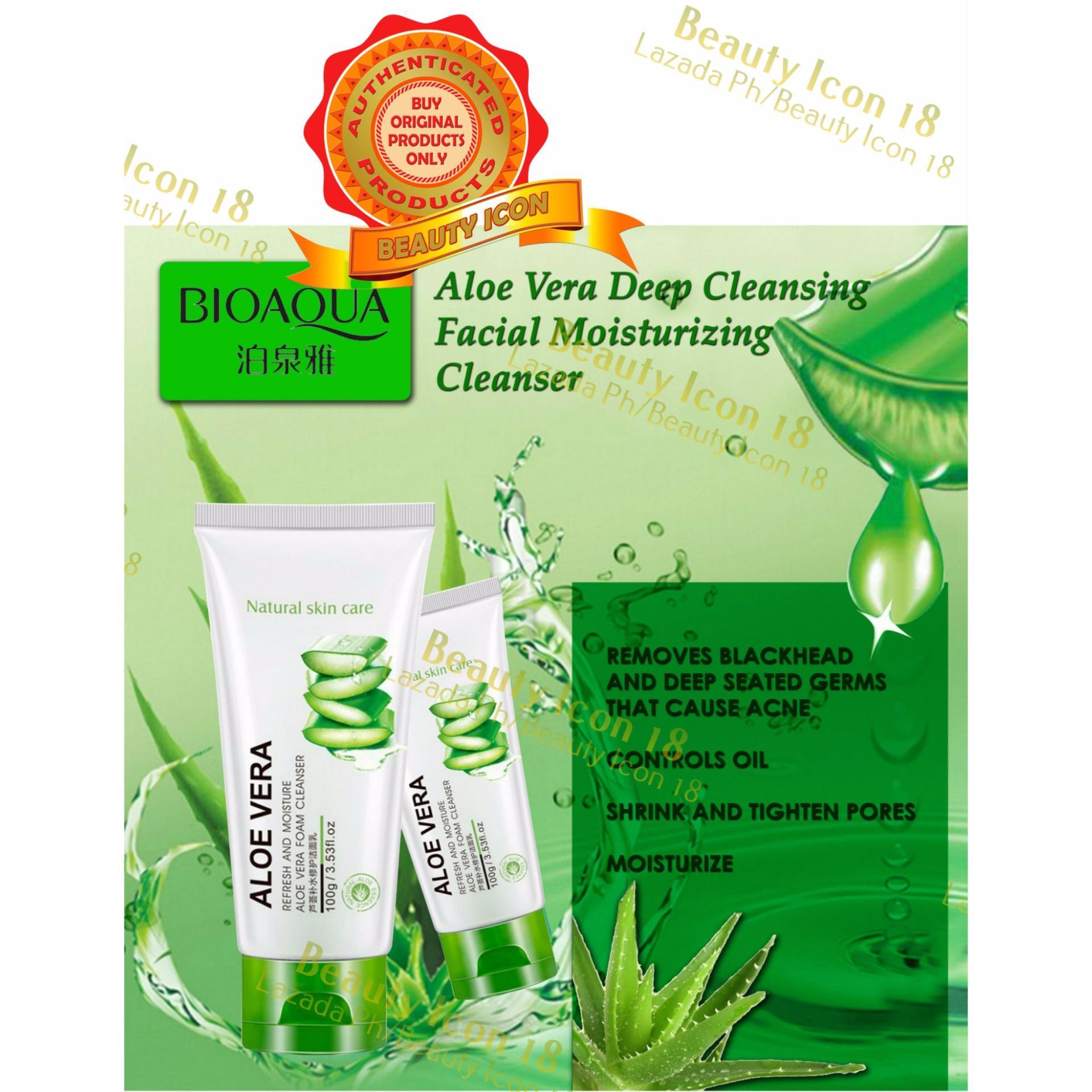 Philippines Bioaqua Natural Skin Care Moisture Aloe Vera 92 Aloevera Cleanser 100g