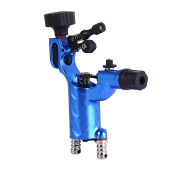 Buy 1 Get 1 Free Gift:Professional Electric Rotary Shader Tattoo Machine Makeup Tool (Blue) - intl