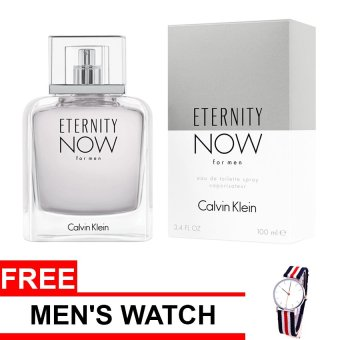 Calvin Klein Eternity Now Eau de Toilette for Men 100ml with FreeMen's Watch