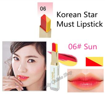 Candy Online Korea NOVO Double Color Lipstick Makeup Moisturizing Color Gradient Lipstick #6 - 3