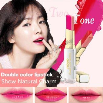 Candy Online Korea NOVO Double Color Lipstick Makeup Moisturizing Color Gradient Lipstick #8 - 4